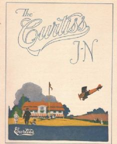 Vintage English poster - Curtiss J-N 1919